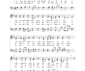 Hymn Spotlight: Now We Thank We All Our God