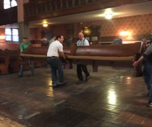 Moving and Shaking: Short Road Trip for the Pews During Restoration