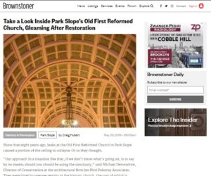 The Media Reports on the Old First Sanctuary Restoration